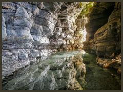 Sea Cave near Flamborough (Steven C Wilson) Tags: water reflections cave hdr lightroom stevenwilson flamborough lightroom4 stevencwilson
