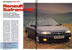 Renault Safrane V6 RXE Road Test 1992 (1) (Trigger's Retro Road Tests!) Tags: road test renault motor 1992 v6 autocar rxe safrane