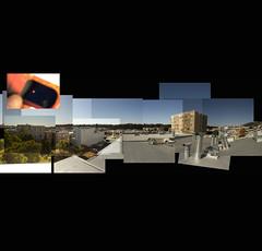 Transit of Venus; 06-05-2012; POV 1333 26th avenue; The Sunset, San Francisco (2012) (Stepthos) Tags: incomplete composite venus transit venustransit san francisco sanfrancisco california june52012 060512 solar shades solarshades viewing stephenwadethomson stephenwadethomsonphotography plomomedia