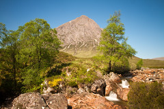 Mountain Buachaille Etive Mor (Circum_Navigation) Tags: glen beautiful blue britain buachaille coe color etive europe european flowing glencoe great harsh highland hills landscape longexposure mor mountain places remote river scotland scottish shining sky stream sun sunny towering valley view water