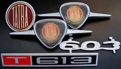 Tatra 603 and 613 emblems (baga911) Tags: auto car emblem republic czech collection made badge czechoslovakia collector tatra 603 znak napis 613 t613 tátra t603 embléma