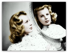 June Allyson (OFENA1) Tags: portrait reflection mirror