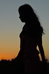 Sunset Silhouette (nebulous 1) Tags: sunsetsilhouette silhouette melinda sunset sundown shooters nikon nebulous1 eyelash asiangirl girl other people