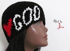 "Love God Beanie • <a style=""font-size:0.8em;"" href=""http://www.flickr.com/photos/66263733@N06/7373634268/"" target=""_blank"">View on Flickr</a>"