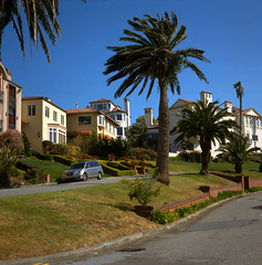 Sea Cliff District SF (Scott Holcomb) Tags: sanfrancisco california 120 6x6 tlr mediumformat cityscapes seacliff squareformat mamiyac330 128 mamiyasekor kodakektar100 hpscanjetg4050 f80mm photoshopdigitalization