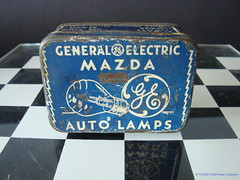 GENERAL ELECTRIC MAZDA Spare Auto Lamps Tin (USA 1950's) (MarkAmsterdam) Tags: old classic sign metal museum radio vintage advertising design early tv portable colorful fifties arm tsf mark ad tube battery engineering pickup retro advertisement collection plastic equipment deck tape changer electronics era record handheld sheet catalog booklet collectible portfolio recorder eames sales electrical atomic brochure console folder tone forties fernseher sixties transistor phono phonograph dealer cartridge carradio fashioned transistorradio tuberadio pocketradio 50s 60s musiktruhe tableradio magnetophon plaskon 40s kitchenradio meijster markmeijster markamsterdam coatradio tovertoom