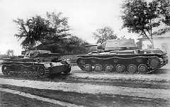 "German Pzkpfw III and Soviet KV-1 • <a style=""font-size:0.8em;"" href=""http://www.flickr.com/photos/81723459@N04/13731059374/"" target=""_blank"">View on Flickr</a>"