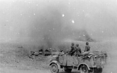The Das Reich Division advances towards Prokhorovka during Operation Zitadelle. By 7 July all units of the division were engaged in combat with Red Army units