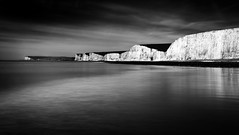Seven Sisters (Langstone Joe) Tags: longexposure seascape mono blackwhite chalk cliffs sevensisters eastsussex seaford beachyhead birlinggap