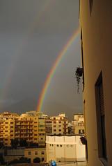 Arcoiris. Palermo. Sicilia (Italia) (galianolorenzo) Tags: clouds rainbow nubes arcoris blocks palermo sicilia meteorology paisajeurbano bloques meteorologa physicalgeography urbangeography geografaurbana geografafsica