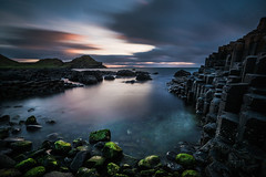 Giant's Casueway, Northern Ireland (Wojtek Piatek) Tags: longexposure ireland sunset sea irish seascape zeiss landscape rocks sony northernireland giants causeway antrim 1635 goldenhours sonya99
