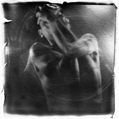 Weekend In Captivity (Mikah_Manansala) Tags: selfportrait art film monochrome polaroid sx70 long exposure lift fine ishootfilm instant analogue impossible ilovefilm filmforever
