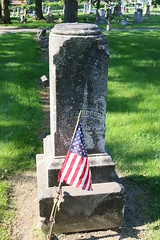 Frederick Spoor, Civil War (Ryan Ojibway) Tags: wisconsin headstone civilwar fortatkinson wi memorialday gravemarker evergreencemetery