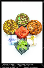 Gift boxs (__Viledevil__) Tags: birthday christmas xmas blue red orange green yellow paper design box anniversary decorative object decoration valentine container celebration gifts celebrations gift surprise present ribbon package carry celebrating giftbox