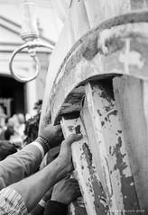 Manos con fe (ralcains) Tags: bw espaa blancoynegro monochrome analog canon monocromo blackwhite spain monochromatic andalucia d76 hp5 analogue andalusia ilford analogica eos1n elrocio andalousia monocromatico villamanrique