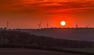 Sunset over Rainworth Wind Farm - 09-05-2016