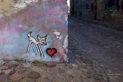 Bambi meets heart (gartenzaun2009) Tags: tallinn grafitti bambi ostsee herz reh mauer estland