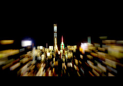 Flopped Frame (DHaug) Tags: city nyc blur skyline night zoom manhattan frame fujifilm empirestatebuilding zoomed flopped xt1 432parkavenue xf56mmf12r