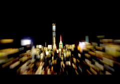 Flopped Frame (Dan Haug) Tags: city nyc blur skyline night zoom manhattan frame fujifilm empirestatebuilding zoomed flopped xt1 432parkavenue xf56mmf12r