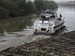 Awake and away. (roddersdad) Tags: june boat outdoor rivertrent 2016 canonpowershots100 compactcameras riversidewalkgainsborough cliveg1hkfeclipsecouk httpswwwflickrcomphotosroddersdad