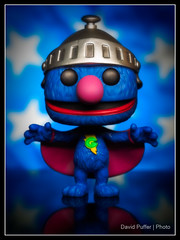 Super Grover (Puffer Photography) Tags: stilllife television studio toys pop actionfigures sesamestreet grover minifigs funko 2016 funkofantasy