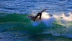 Surfing in Tel-Aviv beach (Lior. L) Tags: sea beach water telaviv action surfer wave surfing greenwave