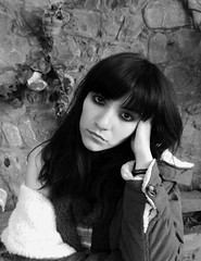 o (gabi amc) Tags: girls portrait blackandwhite white black blancoynegro mujer nikon coolpix monocromatico