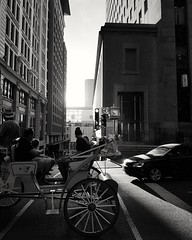 Sunshowers in Old Montreal (Robert Moranelli) Tags: road street sun canada texture clock car rain wagon time mtl quebec montreal streetphotography cellphone oldmontreal timeless vieux sunshowers oldportmtl