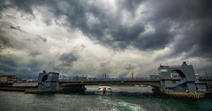 Galata Kprs (bridge) - Golden Horn , istanbul (Yaman Y) Tags: bridge sea summer cloud rain clouds turkey photography golden amazing ship place istanbul rainy horn marmara galata yaman   kprs      yamany