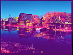 Myshkin town (MouseVille), our days (Dr. Alex O Chevtchenko) Tags: film kodak hasselblad infrared 60mm 6x45 e6 carlzeiss orangefilter aerochrome 205tcc