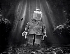 2256 AD (Ludhye) Tags: lego underwater diving blackandwhite statue surrealism