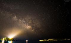 Sounio Milky Way & Fireball (SotirisS.) Tags: light sky night canon way pollution 28 milky 6d sounio 14mm samyang