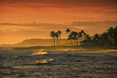 Tropical Sunset (Rebecca Tifft) Tags: sunset hawaii kauai tropicalsunset