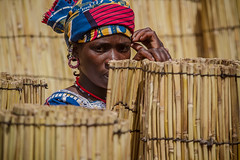 Portrait of a woman to the market of Gorom Gorom, Sahel, northern Burkina Faso (anthony pappone photography) Tags: africa travel portrait people canon westafrica afrika earrings bella ethnic ritratto burkina burkinafaso afrique fulani goromgorom sahel  peul bororo orecchini    burkinabe africantribe  pehul