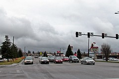 Blackfoot, Idaho on Parkway Drive looking South (5of7) Tags: sky cloud clouds traffic transport nopeople idaho transportation scape i15 interstate15 10views binghamcounty blackfootidaho
