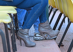 2012-04-27 (130) r5 boots (JLeeFleenor) Tags: pimlico girls boots heels tightjeans highheels grey gray footwear woman femme frau vrouw donna mujer dona امرأة жена 女子 žena kvinde nainen γυναίκα האישה nő औरत wanita 女性 여자 kvinne زن kobieta mulher женщина kvinna หญิง kadın жінка jeans marylandhorseracing marylandracing md maryland