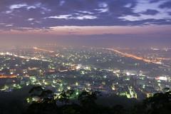 DSC_5406 (Ming - chun ( very busy )) Tags: city travel light sky cloud house mountain building night landscape star evening nikon shot d70 taiwan scene taichung nikkor                    taichungcity  fongyuan