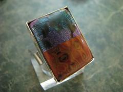 2012 Rings (Wanda's Designs) Tags: colorful funky polymerclay fimo colourful whimsical millefiori mokumegane