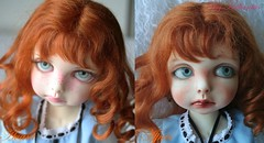 Before / After (heliantas) Tags: doll kim handmade alice bjd commission lasher faceup