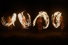 Fire Dancer (Izzy Guttuso) Tags: longexposure beach night fire dance dancing florida cloning dancer midnight clone firedancer