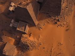Meroe Archaeological Site XII - R45845m (opaxir) Tags: archaeology pyramid sudan aerial kap nubia kush meroe meroitic