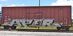 aper (INTREPID IMAGES) Tags: street railroad streetart abstract color art train bench graffiti paint steel painted graf tracks rail railway trains tags images railcar intrepid boxcar write graff dhs railfan freight rolling dtk gr8 paintedtrains fr8 railbox aper benching paintedsteel railer intrepidimages