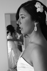 l'attesa si fa preziosa (Ali-smile!) Tags: wedding portrait bw woman bride blackwhite donna friend bn chiara ritratto matrimonio amica sposa