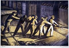 Gottlieb, Harry (1895-1992) - Makers of Steel (Smithsonian American Art Museum, Washington DC) (RasMarley) Tags: print smithsonian workers graphic group american painter expressionism jewish wpa 20thcentury romanian lithograph gottlieb socialrealism harrygottlieb makersofsteel