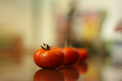 Tomatina Tomato (tenthousandsouls) Tags: deleteme5 red deleteme8 color deleteme2 deleteme3 deleteme4 green deleteme6 deleteme9 deleteme7 canon tomato 50mm salad dof bokeh deleteme10 tomatoes fresh depthoffield tomatina deleteme1 babytomatoes 50mmprime babytomato