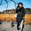 This is she (mb17chung) Tags: park camera winter portrait sun slr 120 6x6 film girl sunshine square tokyo quiet ueno kodak bronica medium format 東京 sq portra 上野 f28 公園 160 上野恩賜公園 80mm sqai zenzanon