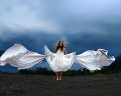 Imaginary Wings (Sophia Alexis) Tags: alexis portrait feet girl photoshop self canon hair eos 50mm wings dress sigma 7d 365 imaginary sophia cs5