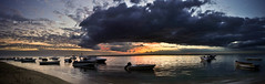 Black River Sunset - Panorama (Igor V. Ahn) Tags: sunset panorama nikon bateaux blackriver coucherdesoleil d90 ilemaurice rivirenoire igorahn