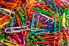 Paper Clips (Oreo Cakester) Tags: pink blue red orange white amanda green yellow paper rainbow nikon purple clips 365 alexander d90 365orless oreocakester