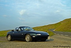 MX5 - Black Mountain Hairpin ({House} Photography) Tags: road mountain black wales driving south pass convertible automotive beacons mazda miata bbs mx5 rollbar roadster eunos becon housephotography a4069 timothyhouse